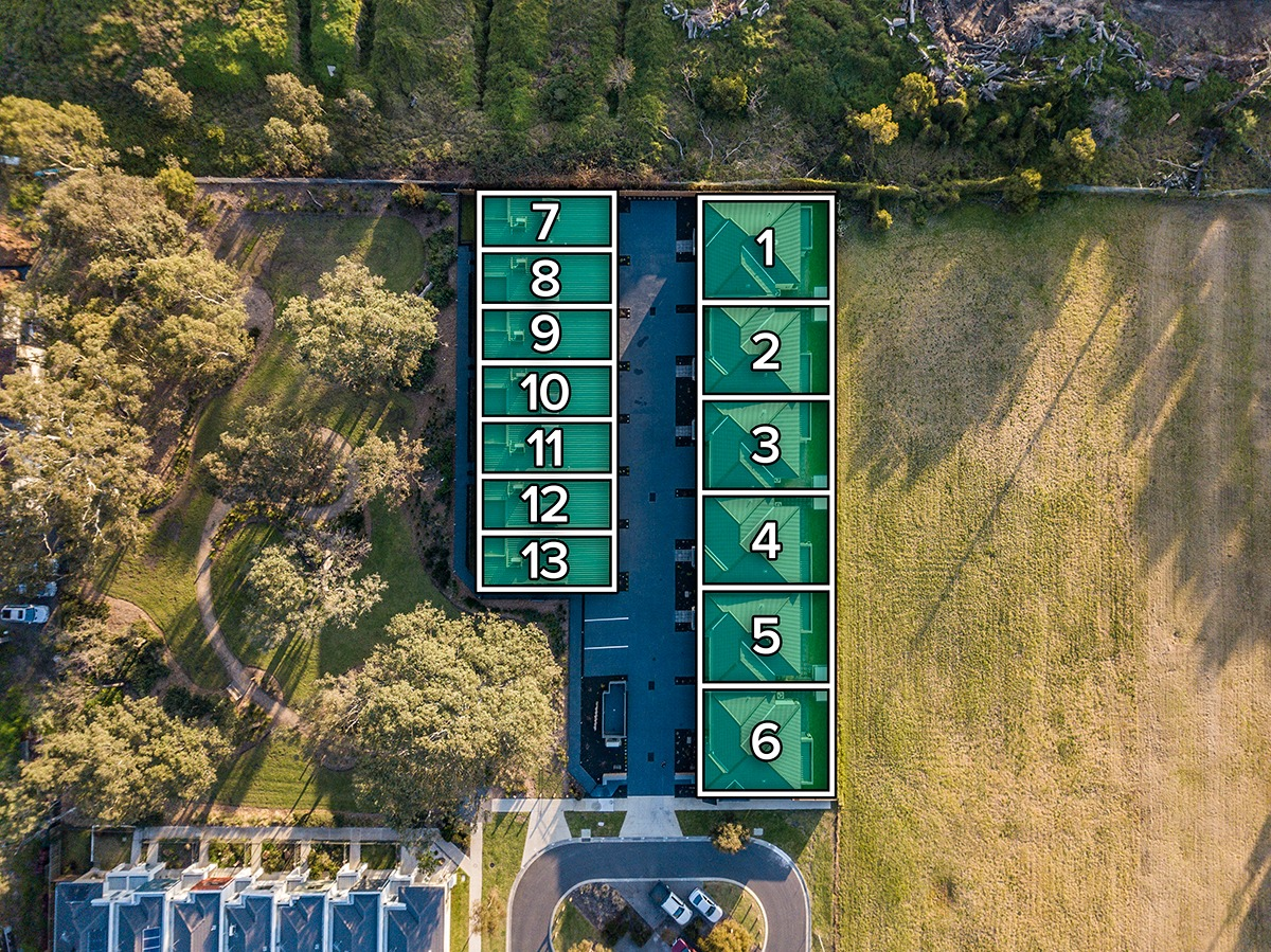topdown real estate drone photo