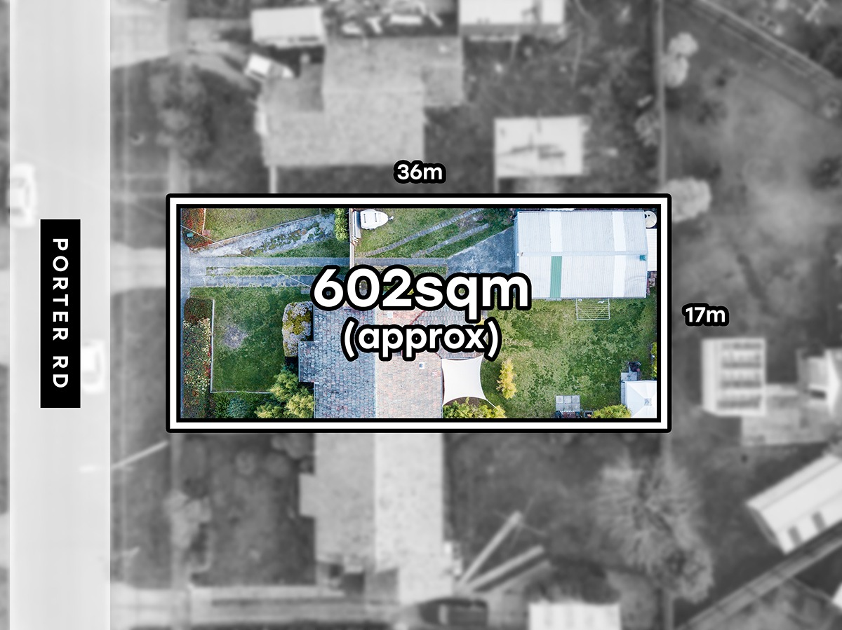 topdown aerial photo of a residential home